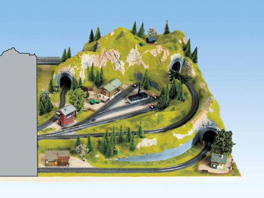 """Noch 81960 - Extension droite de Plateau : """"Schattenbahnhof"""" 100 x 120 cm, ca. 36 cm de hauteur"""