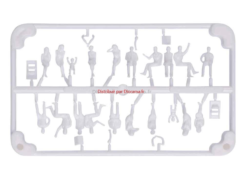 10 Personnages assis 3D 1:100