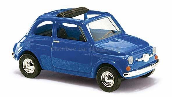 Voiture miniature - Fiat bleue - 1:87 - HO - Bush 48724