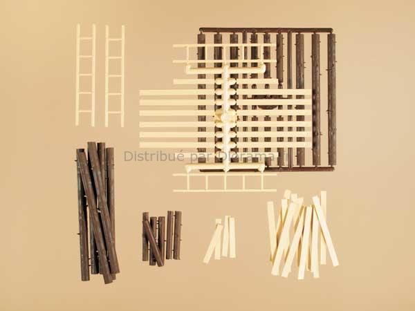 Troncs bois miniatures 1:87 - Auhagen 42553
