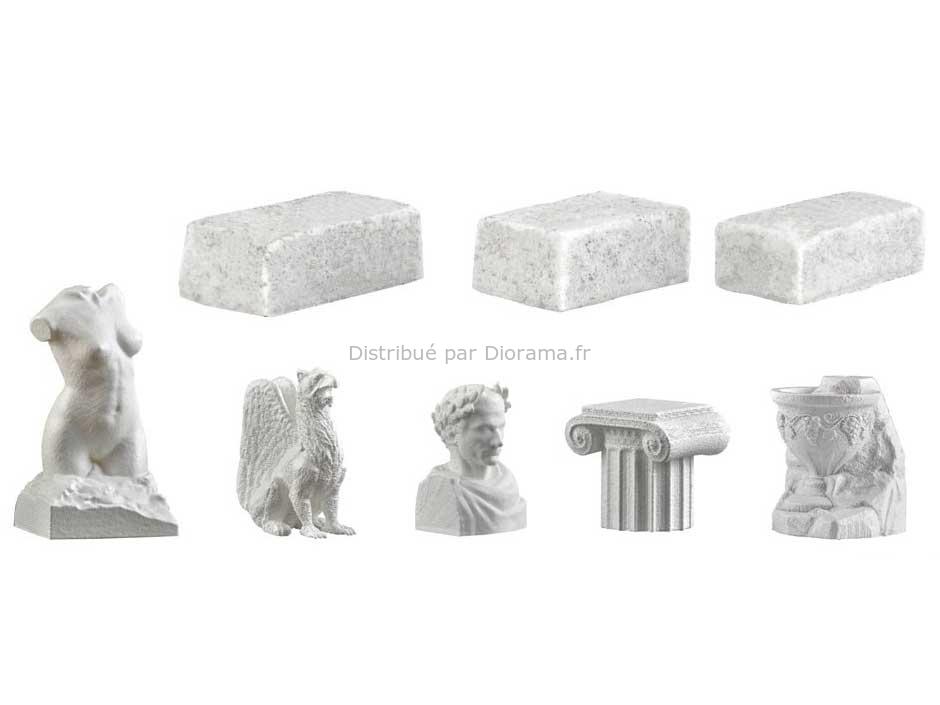 Statues de pierre miniatures 1:87 ho - Vollmer 48281