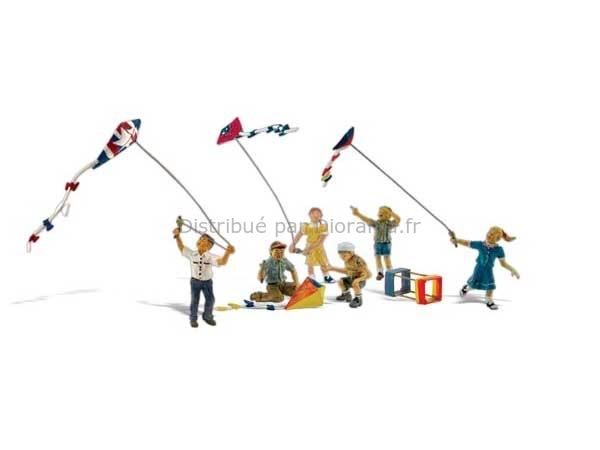 Enfants miniatures et cerf-volants 1:87 - Woodland A1937