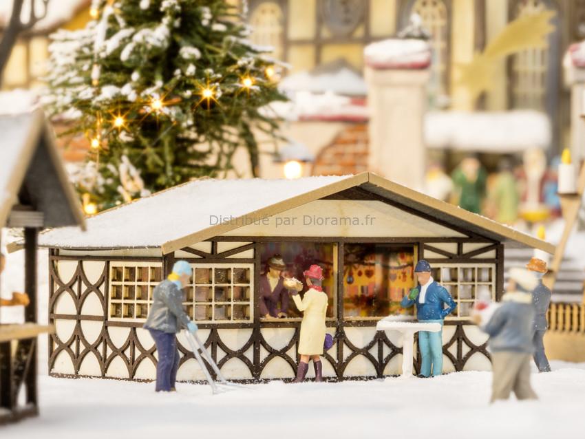 Décor miniature : Stand de marché de noël - 1:160 N - Noch 14682