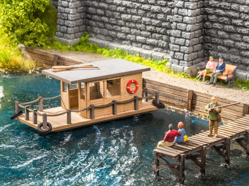 Décor miniature : Maison flottante - 1:87 HO - Noch 14224