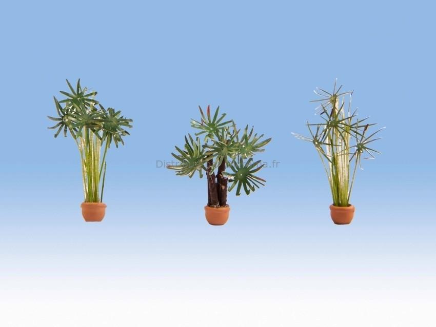 Vagétations miniatures : 3 Palmiers - 1/87 HO - Noch 14024