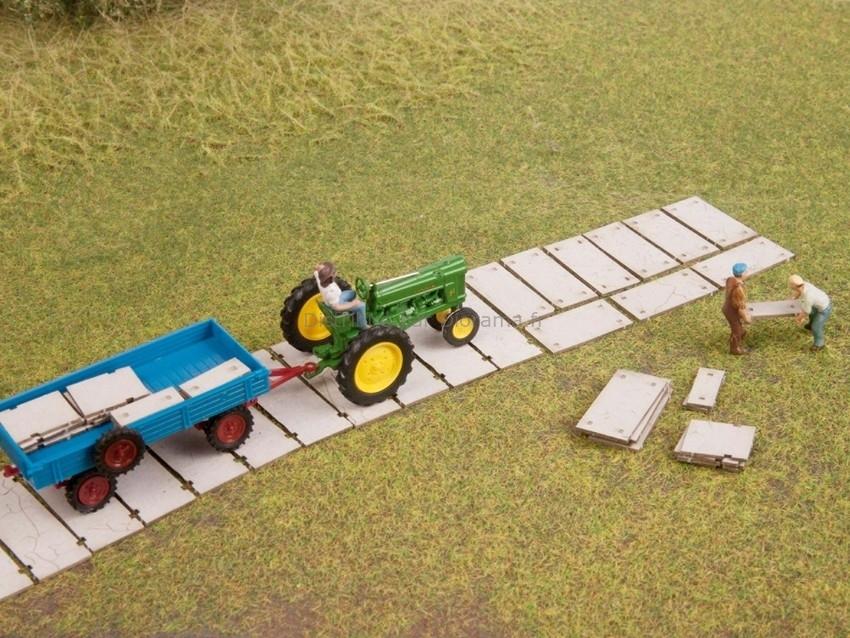 Décor miniature : Dalles de trottoir - 1:160 TT - Noch 14631