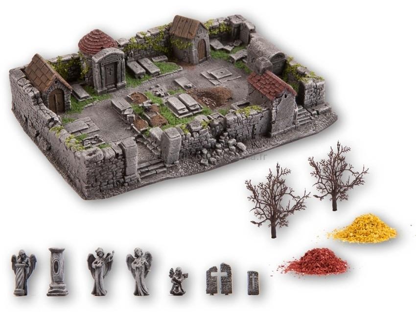 Décor miniature : Cimetière hanté - 1:87 H0 - Noch 58585