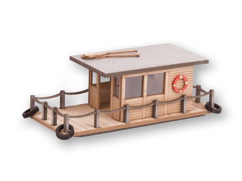 Décor miniature : Maison flottante - 1:160 N - Noch 14637