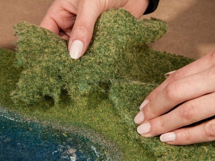 Végétation miniature : Flocage vert clair 20 x 23 cm - Noch 07270