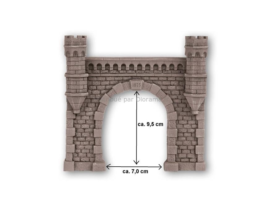 Décor ferroviaire : Entrée de tunnel 1 voie 16 x 15,2 cm - 1:87 H0 - Noch 58270