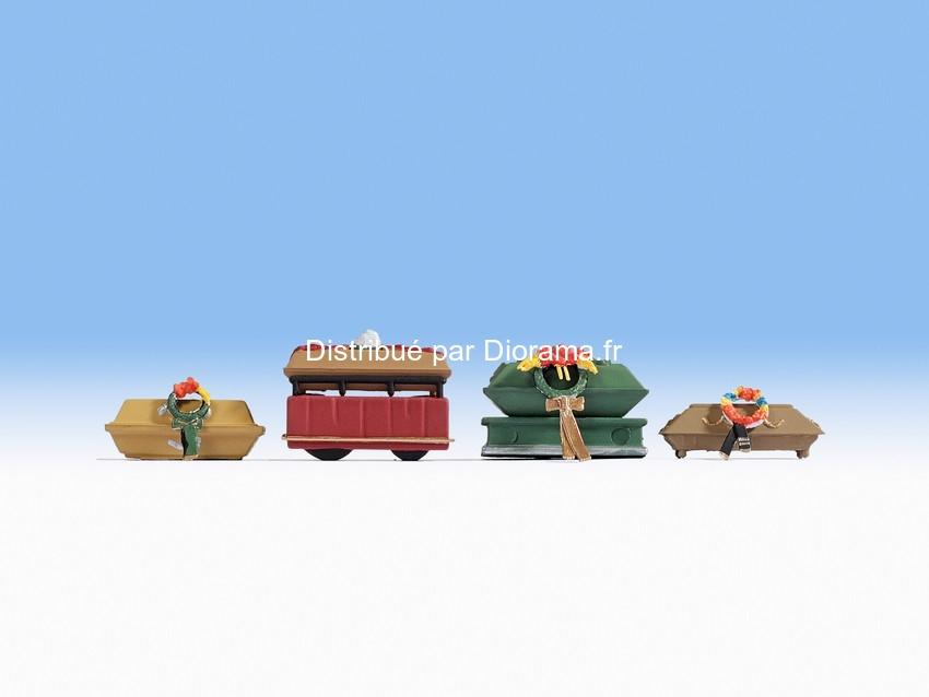 Figurines miniatures : Accessoires funéraires 1:87 - Noch 14874