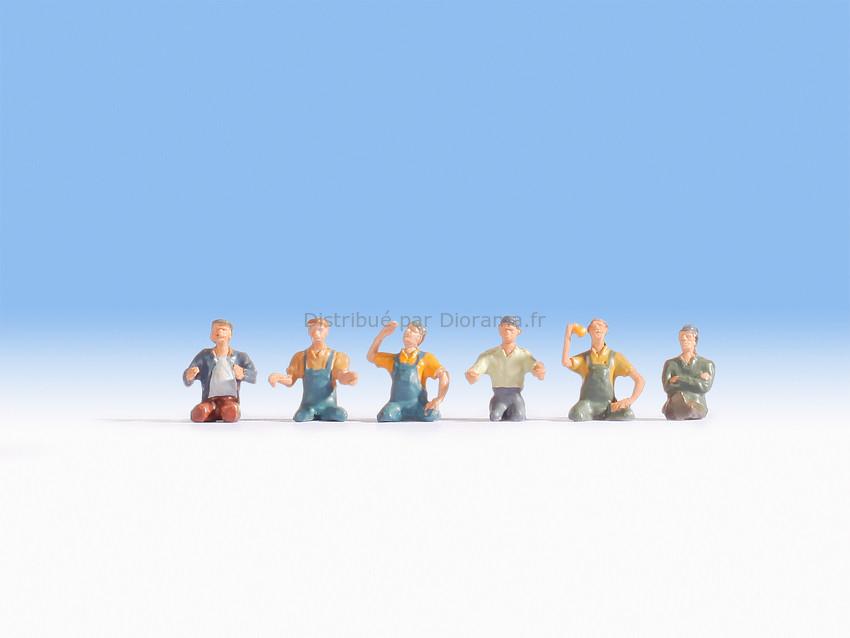 Figurines miniatures : Chauffeurs et convoyeurs de camoin   1:87 - Noch 15244
