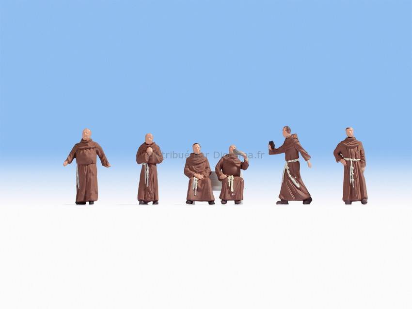 Figurines miniatures : Moines  1:87 - Noch 15401