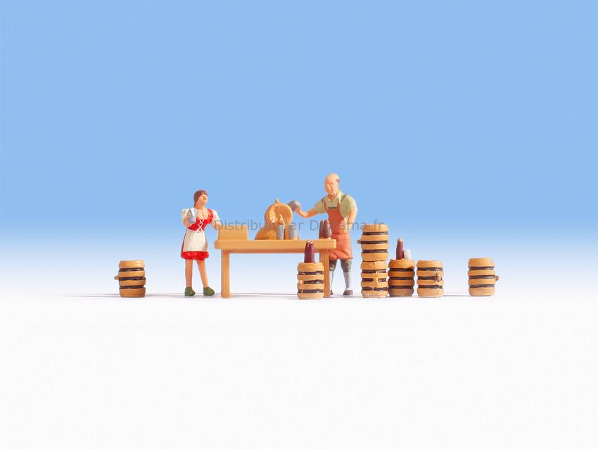 Figurines miniatures : Buvette à biéres 1:87 - Noch 15835