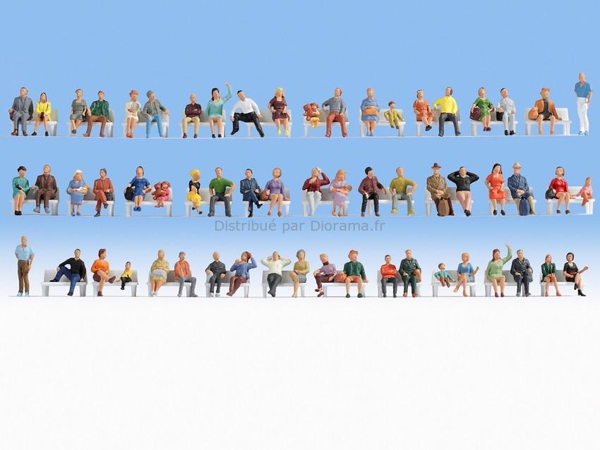 Gens assis miniatures : 1:120, TT - Noch 47402