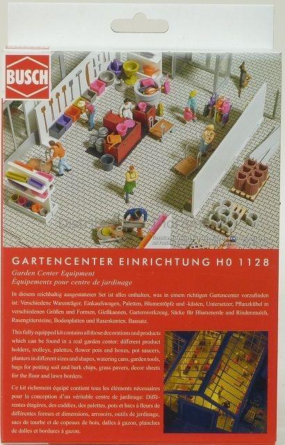 Accessoires miniatures : Équipements pour centre de jardinage - 1:87 HO - Busch 01128