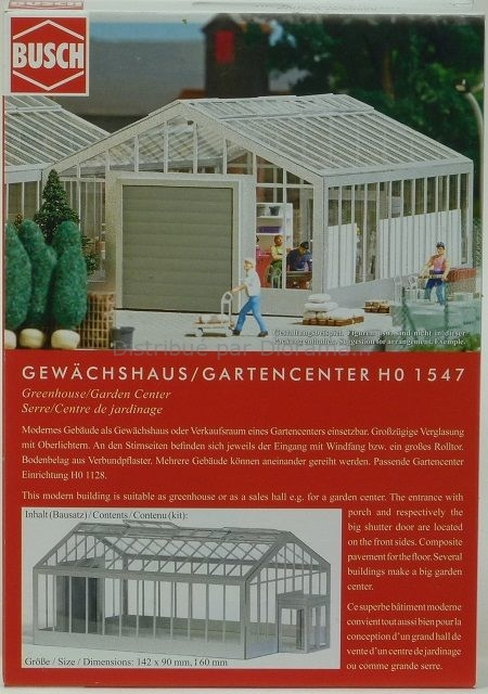 Accessoires miniatures : Serre / Centre de jardinage - 1:87 HO - Busch 01547