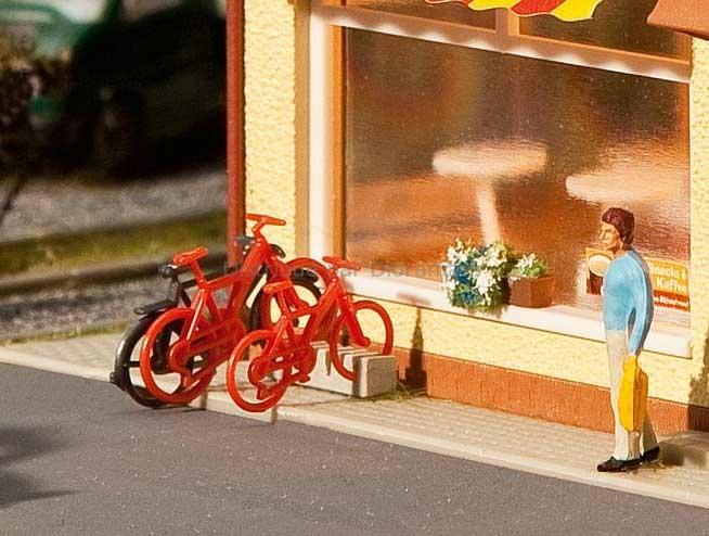 Décors miniatures : 8 vélos miniatures - 1:87 HO - Faller 180901