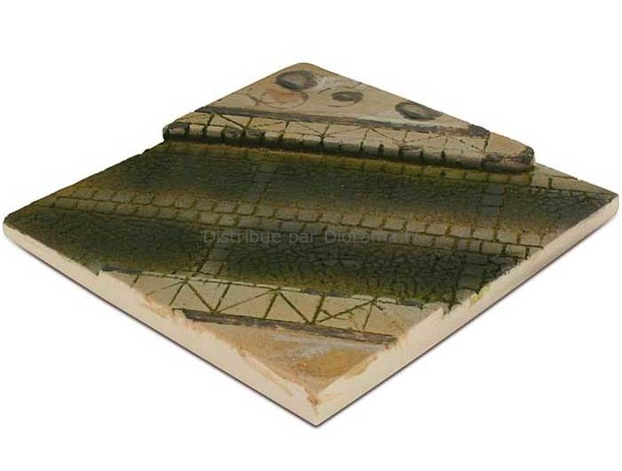Socle Diorama 14x14 cm, route goudronnée - Vallejo 3495
