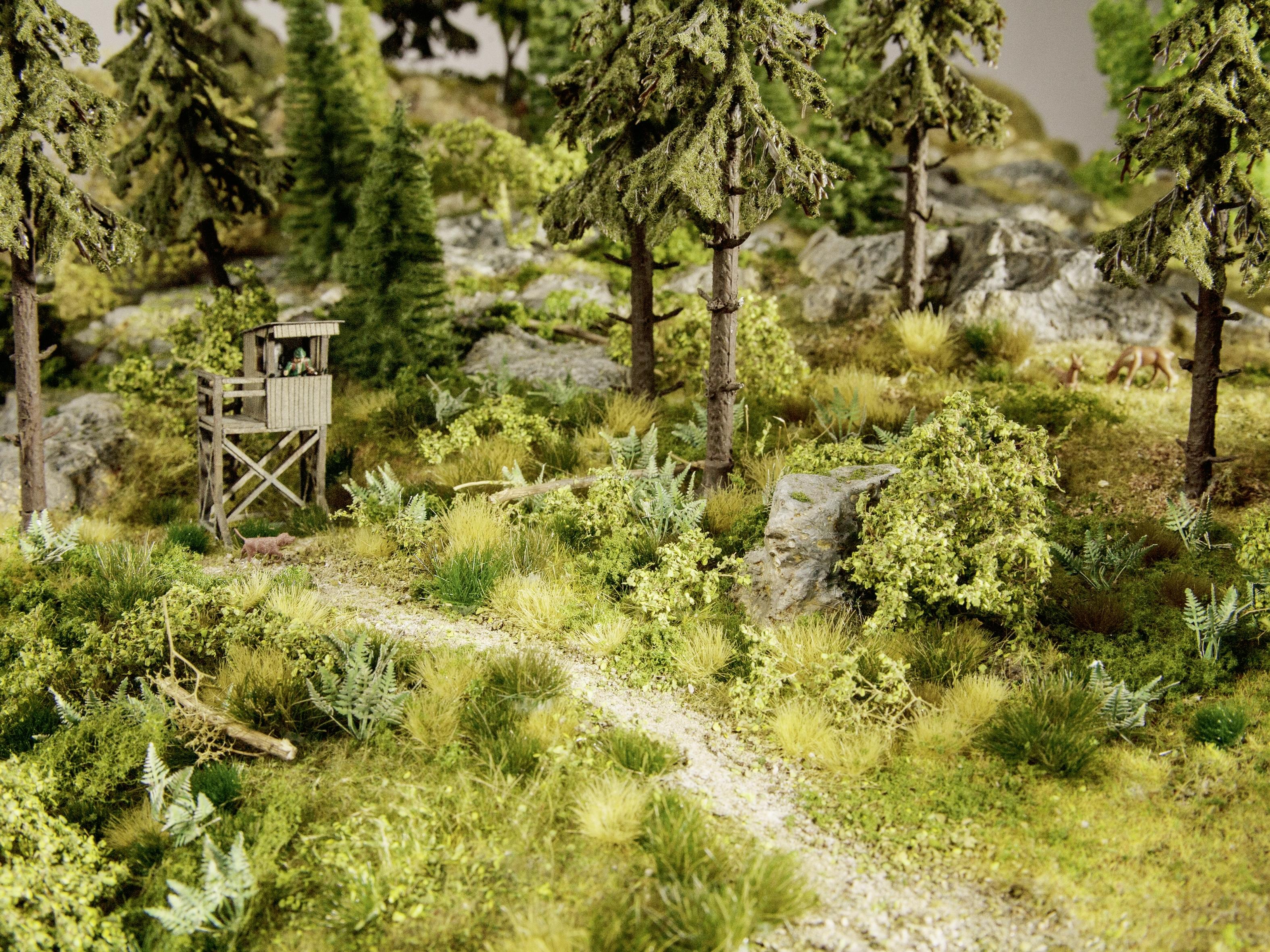 Végétation miniature : Touffes d'herbes XL, tons neutres, 92 pieces 12mm - Noch 7008 07008