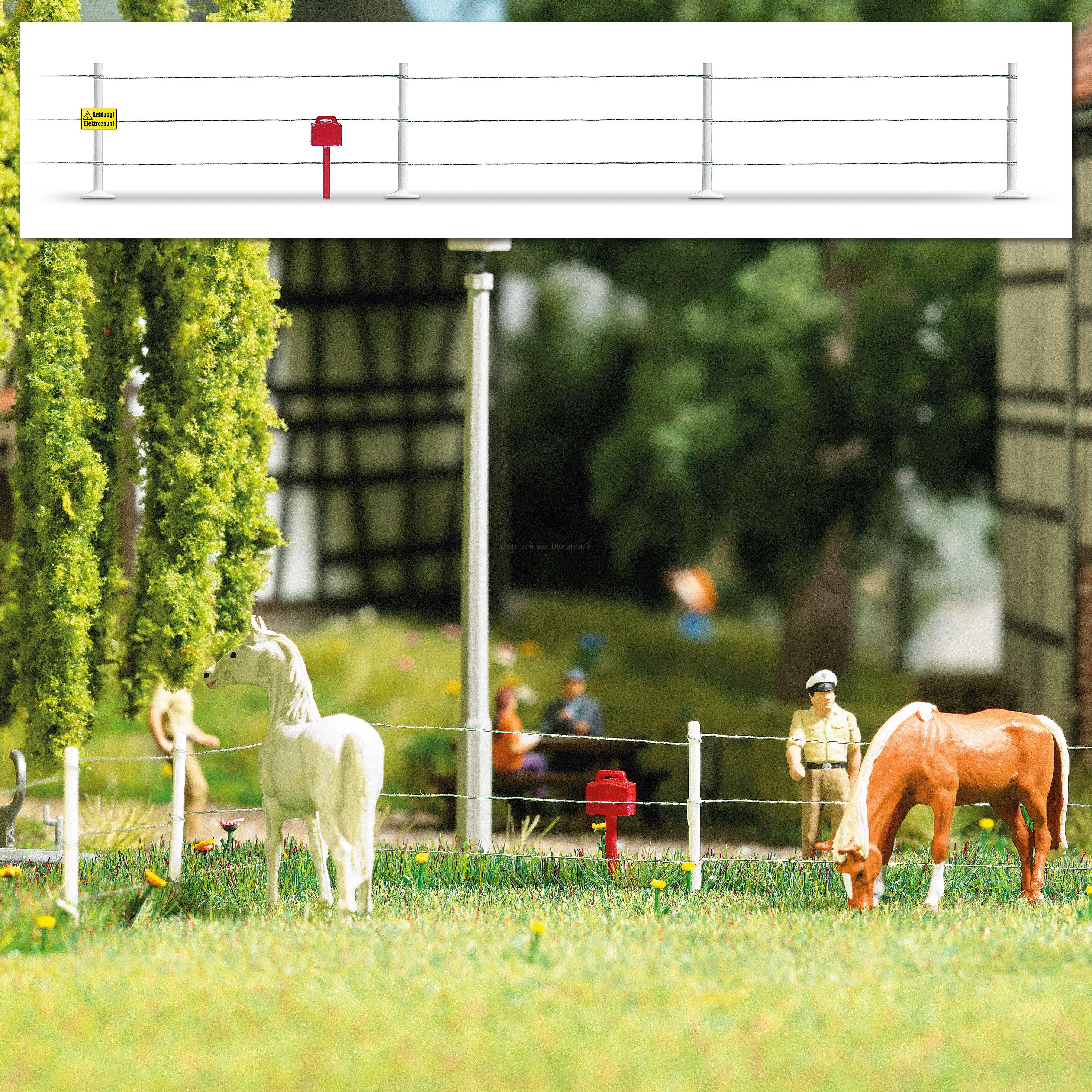 Décors miniatures : Cloture électrique - 1:87 HO ‐ Bush 01014