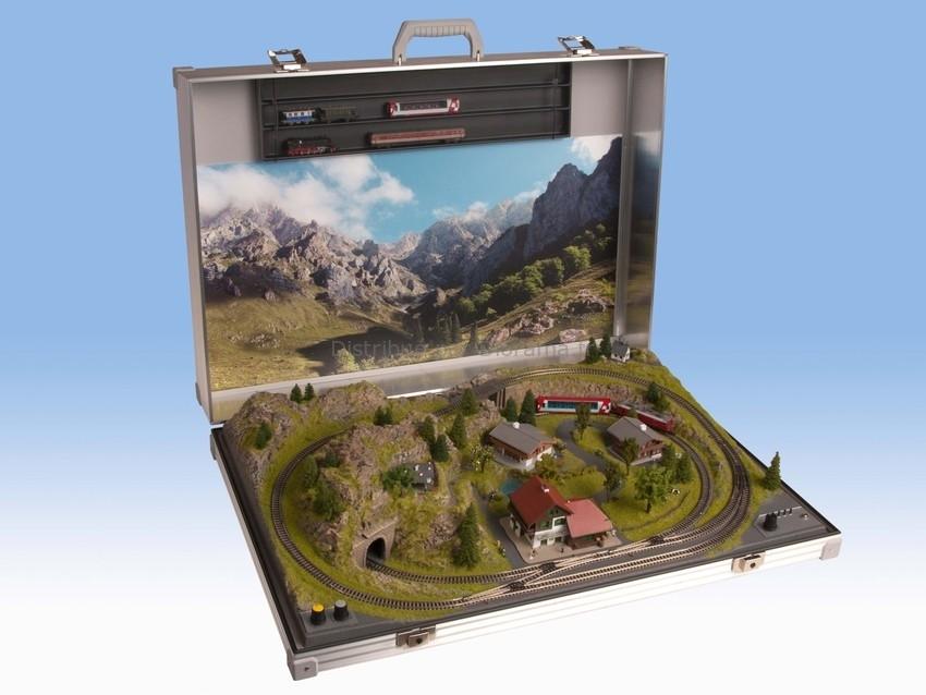 """Réseau en mallette """"Berchtesgaden"""" avec voies Fleischmann - 1:160 N - Noch 88401"""