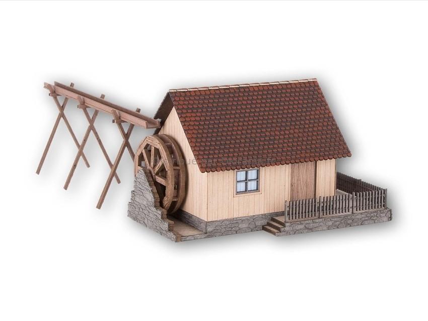 Bâtiment miniature : Moulin à affutage en découpe laser - 1:160 - Noch 63707