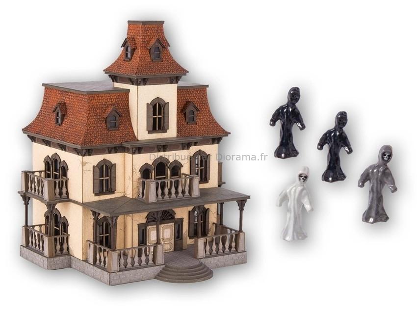 Bâtiment miniature : Manoir hanté avec micro son - 1:87 HO - Noch 66990
