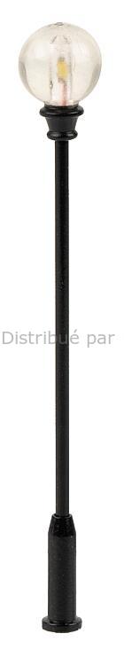 Éclairage miniature : Réverbère de parc LED, lampe boule rapportée - 1:87 HO - Faller 180204