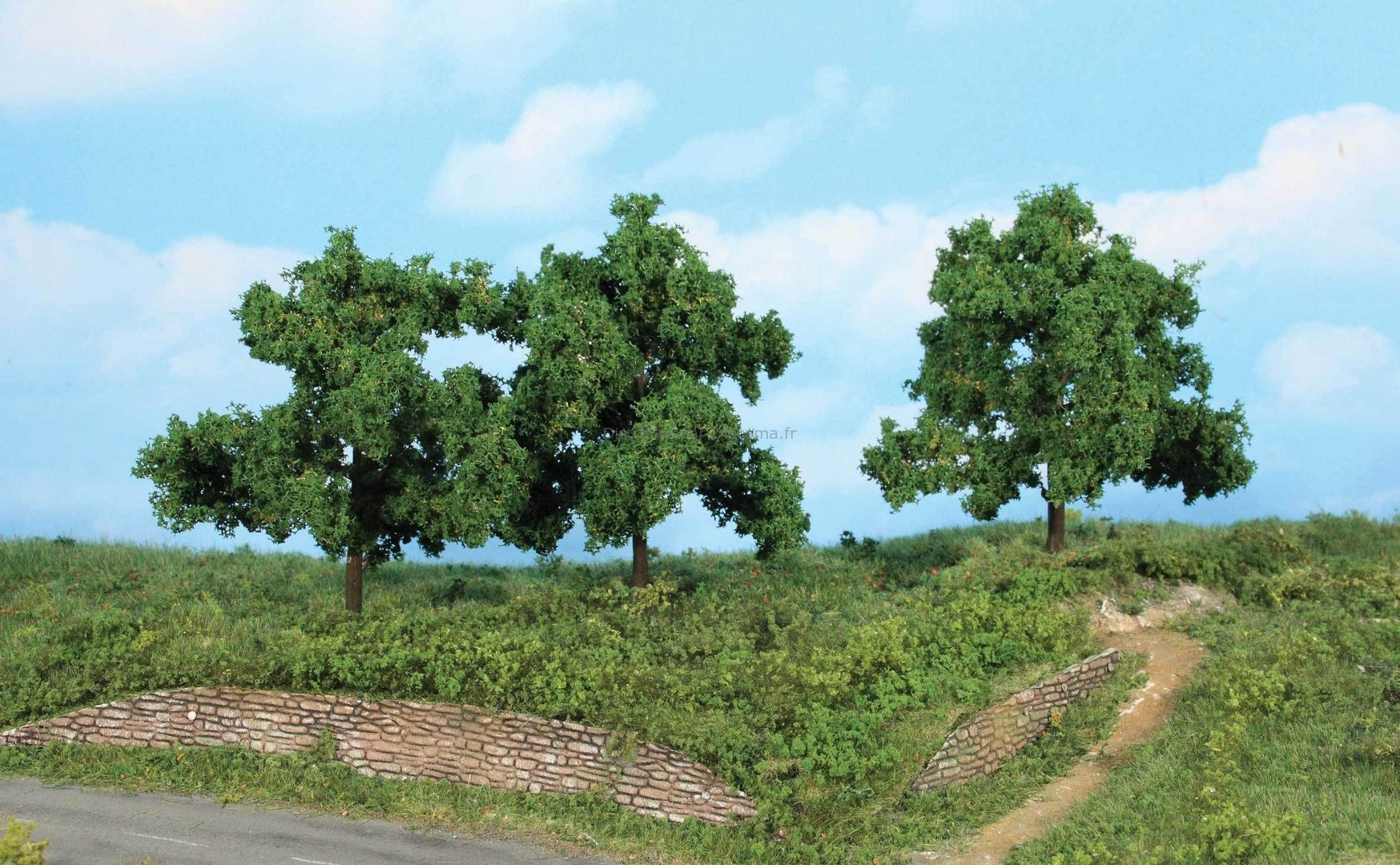 Végétation miniature : 3 arbres fruitiers 13 cm - Heki 1934, 01934