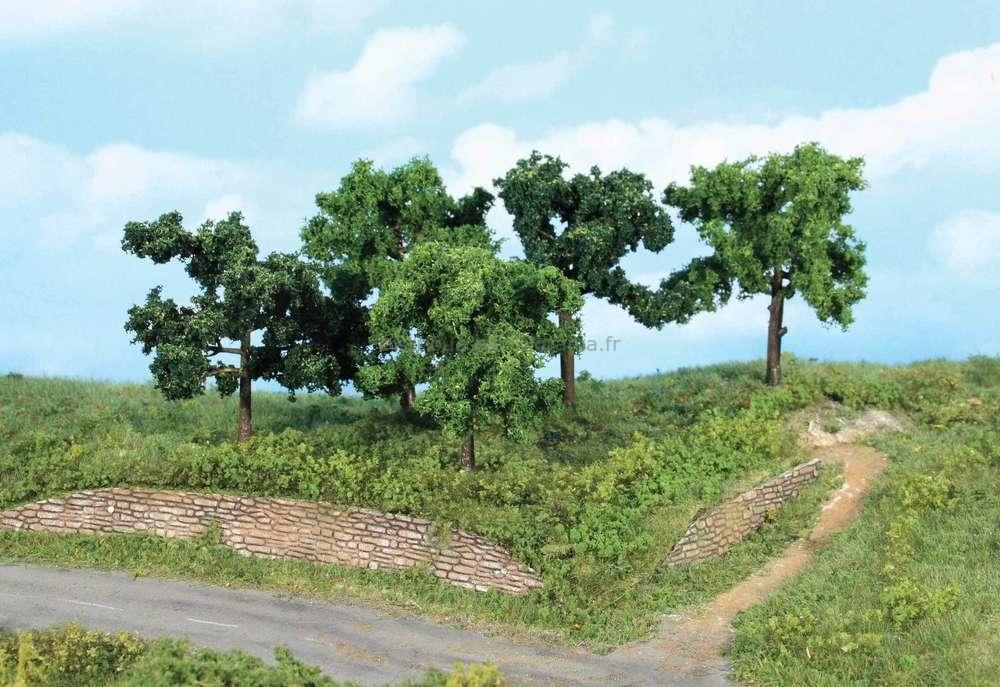 Végétation miniature : 5 arbres fruitiers 8 -10 cm - Heki 1935, 01935