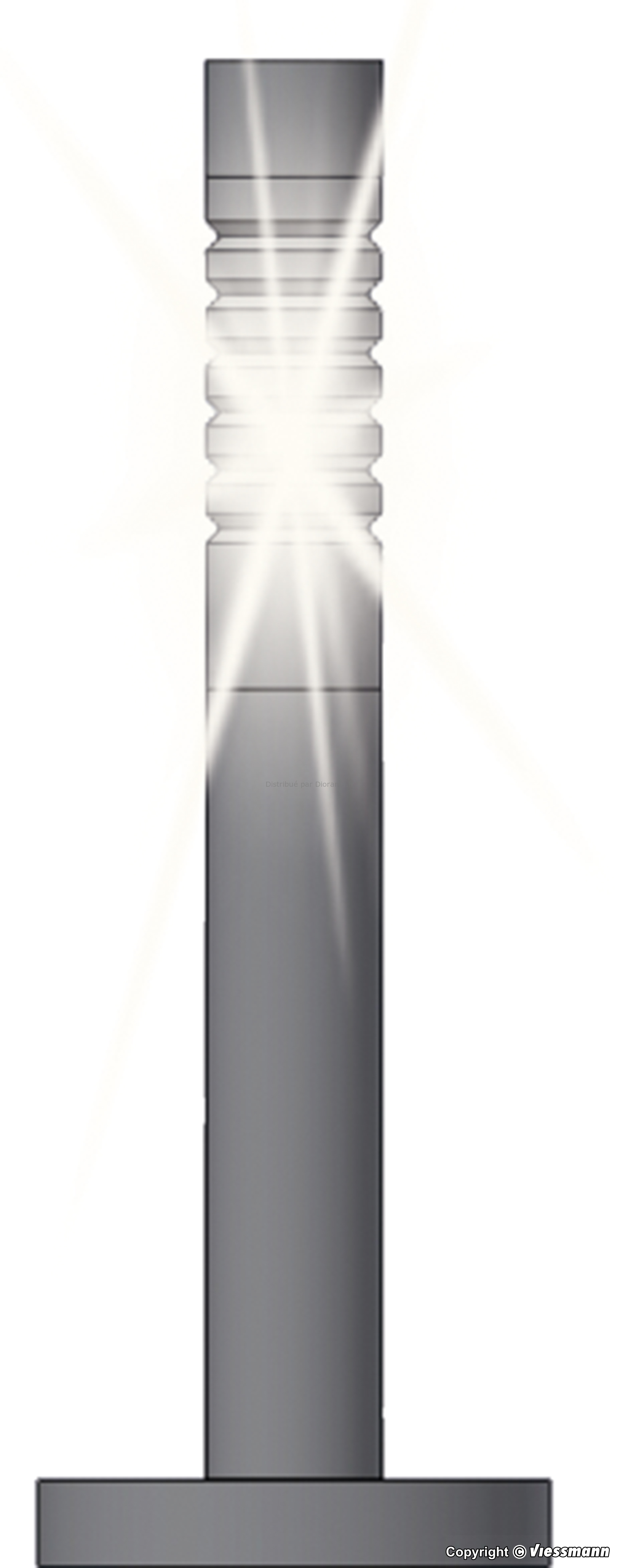 Décor diorama : Éclairage extérieur moderne, led – 1:87 H0 – Viessmann 6162 06162