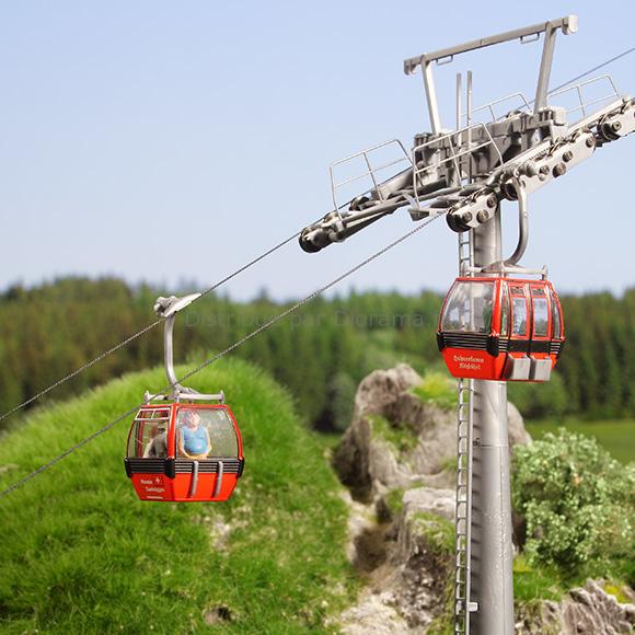 Décor miniature : Télécabine autrichien Hahnenkamm - 1:87 - Brawa 6344, 06344