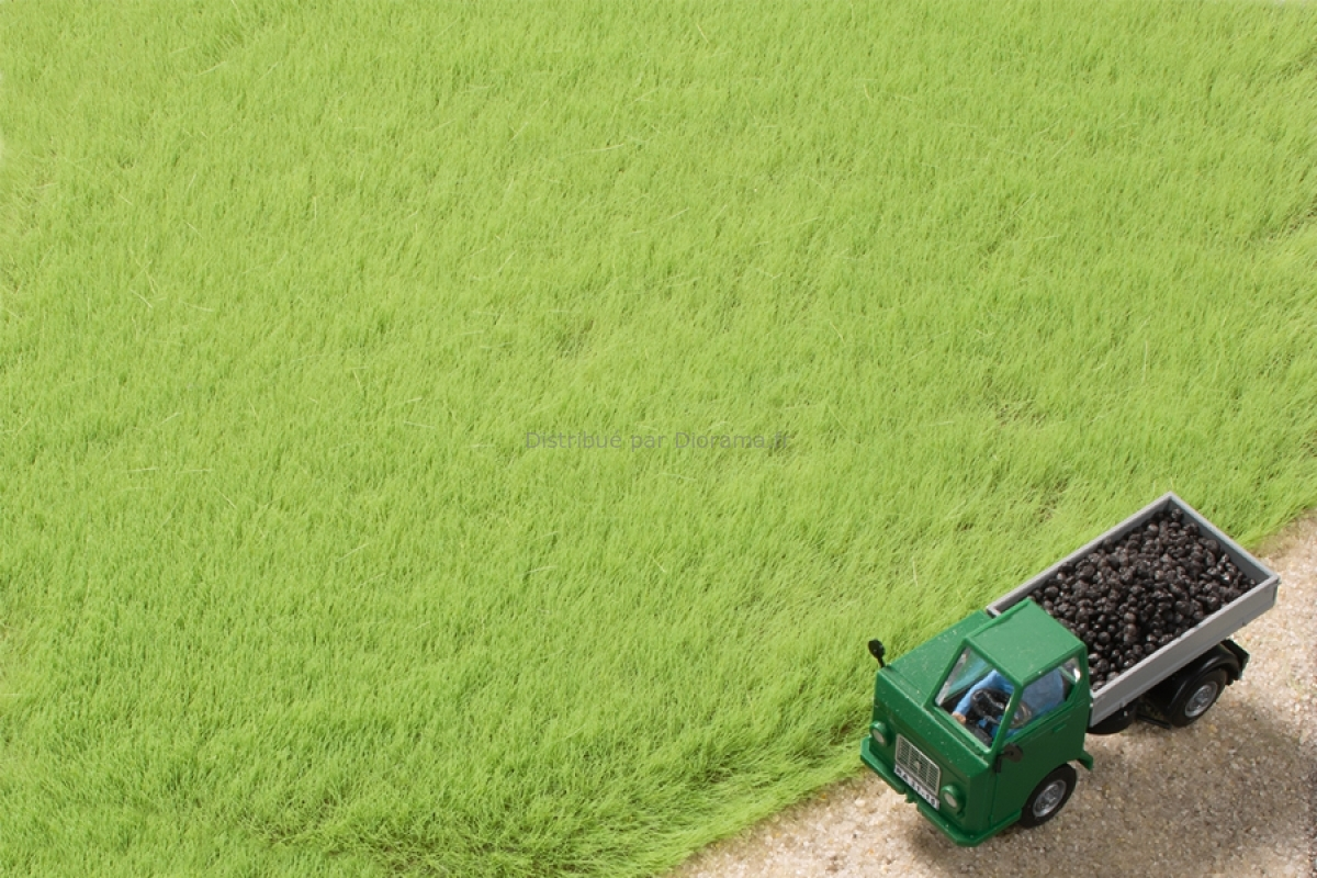 Végétation miniature : Fibres d'herbe vert clair 4,5 mm - Auhagen 75613