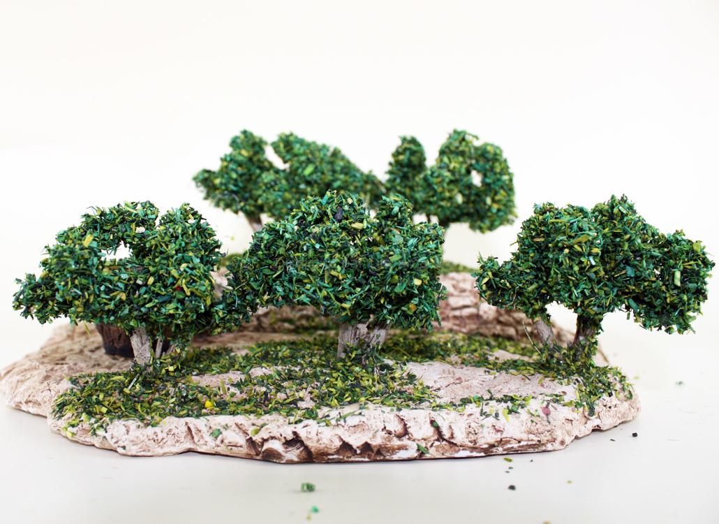 Décor de champs de vignes - crèche provençale avec vignes et arbres - FR 23007