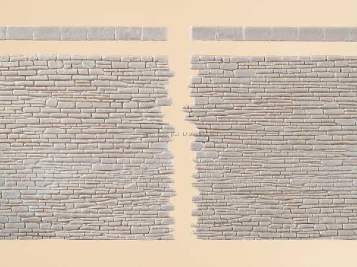 Mur miniature de pierre - 1:87 H0 /1:120 TT - Auhagen 52439