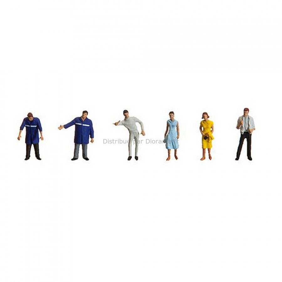 Figurines miniatures : Personnel de station-service - 1:87 - Faller 151070