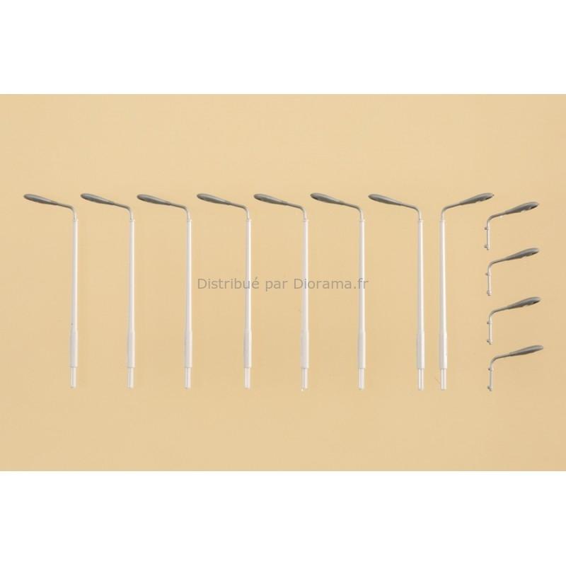 Décors miniatures : 12 lampadaires factices - N, 1:160 - Auhagen 44648
