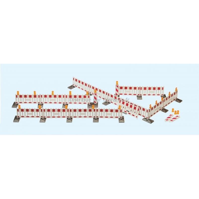Accessoires miniatures : Barrières et contrôle routier - HO 1:87 - Preiser 17182