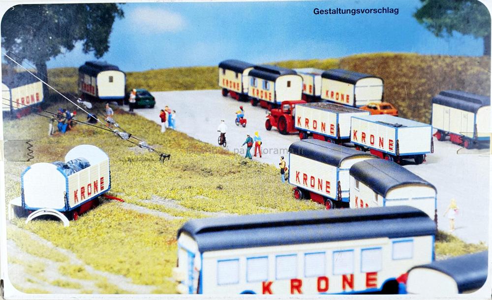 Maquette caravane de cirque Krone 1/87 - Preiser 21050