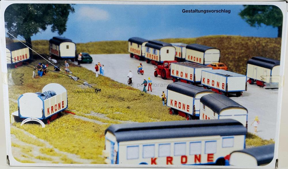 Maquette caravane Krone 1/87 - Preiser 21052