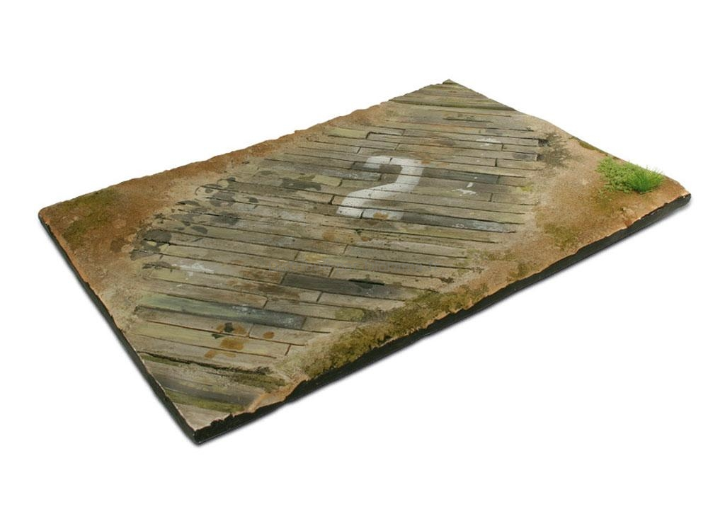 Socle Diorama 310 x 210 mm, emplacement avions WW2 - Vallejo 3525, SC102