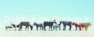 Figurines miniatures :  Animaux à la ferme - Noch 15713nimaux à la ferme 1:87 - Noch 15713