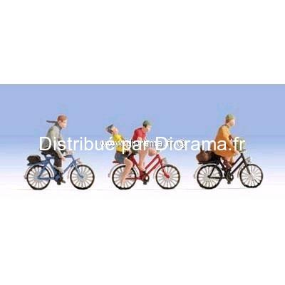 Figurines miniatures :  Cyclistes - Noch 15898