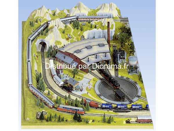 """Noch 80120 - Extension de Plateau """"Drehscheibe"""" 1:87 - HO, 100 x 140 cm, 26 cm de hauteur"""