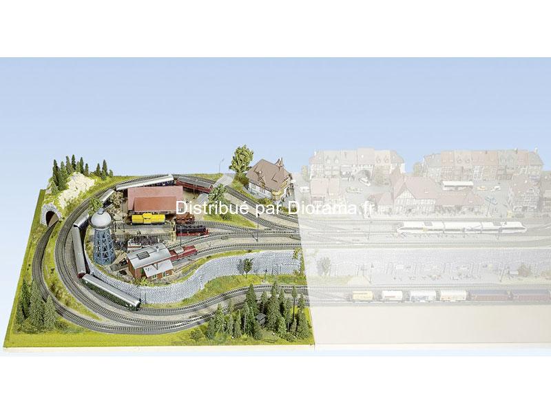 "Noch 80310 - Module plateau ""Heidelberg"" 1:87, 120 x 100 cm, hauteur 22.5 cm"