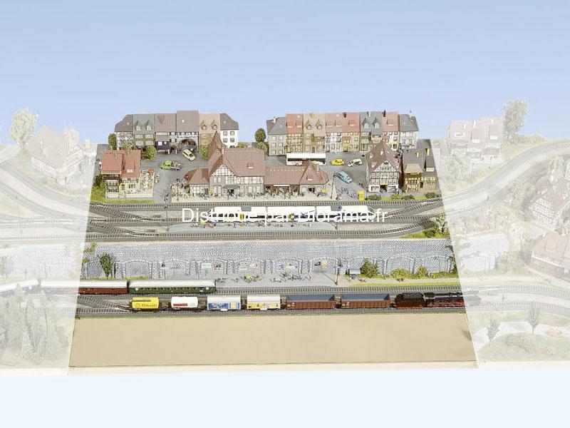 "Noch 80330 - Plateau modulable ""Heilderberg"" 1:87, 120 x 80 cm, hauteur 16 cm"