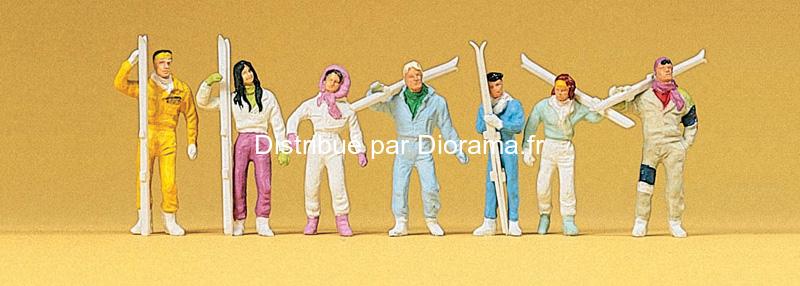 Preiser 10316 - Skieurs miniatures 1:87