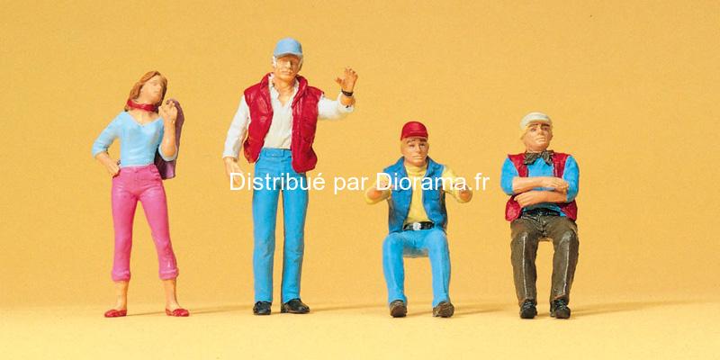 Preiser 65313 - Camionneurs et automobilistes miniatures 1:43, O