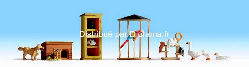 Figurines miniatures :  Animaux doméstiques - Noch 15716